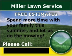 Lawn Care Business Card 10 front