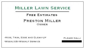 Lawn Care Business Card 6
