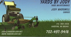 Lawn Care Business Card 8 front