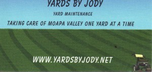 Lawn Care Business Card 8 back