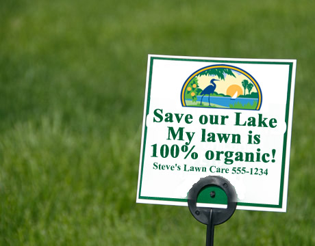 Organic lawn care sign