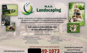 lawn care post card back