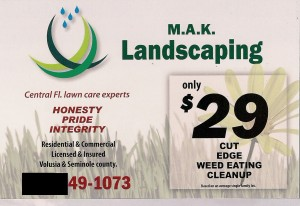 lawn care post card front