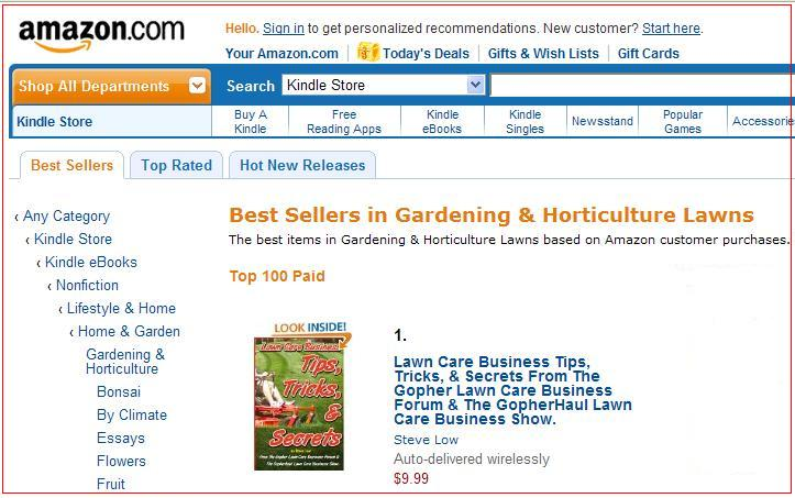 #1 best selling lawn care business book on amazon.