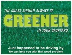 Lawn care post card