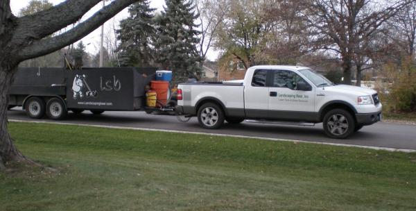 Landscape Truck And Trailer Lawn Care Business Marketing