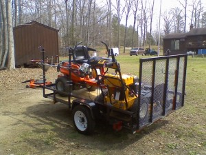 Open Landscape Trailer