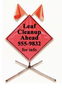 Leaf Cleanup Sign