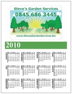 Lawn Care Business Magnetic Calendar