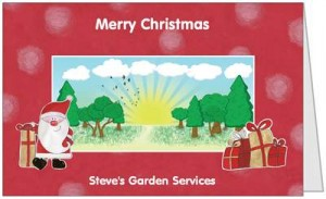 Lawn Care Business Christmas Card Front