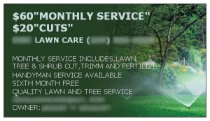 Cheap Lawn Care Advertising