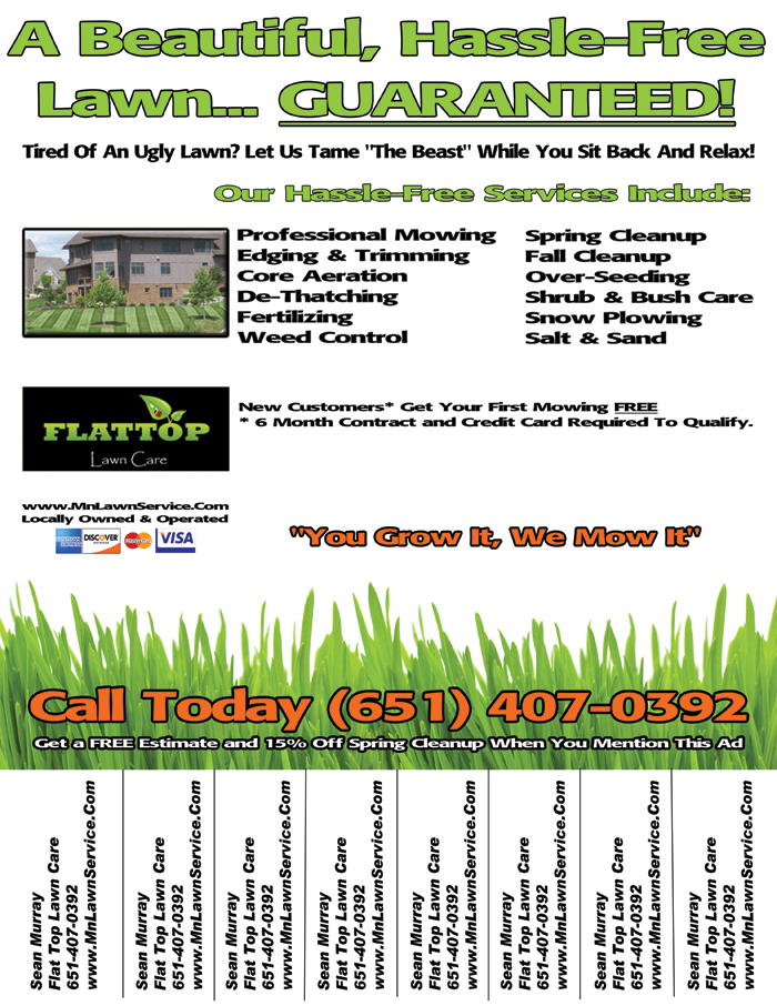 Lawn care service flyer template for Garden maintenance flyer template