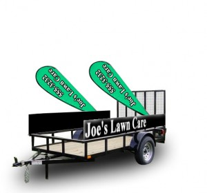 Lawn mowing banner closing.