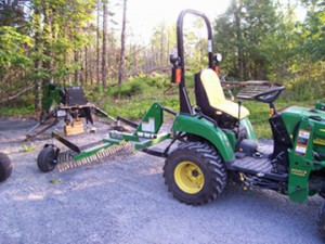 Driveway rake and sweeping services