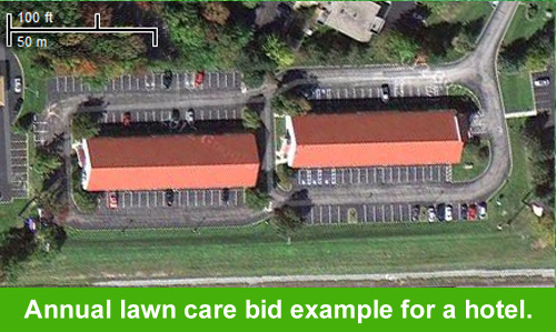Hotel Lawn Care Bid Example