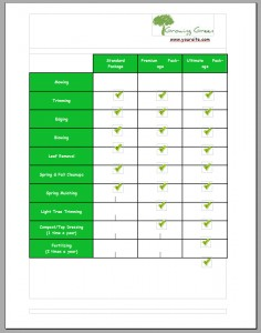 Lawn Care Bid Example Page 3