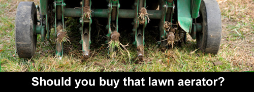 Should you buy that lawn aerator?