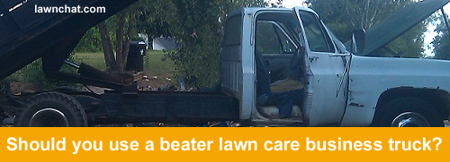 Lawn Care Business Truck