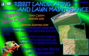 Organic Lawn Care Post Card