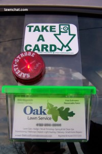 Lawn Care Business Card Holder For Truck
