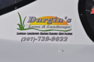 Lawn care business race car ad 2