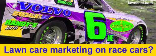 Lawn Care Marketing On Race Cars