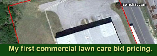 Commercial lawn care bid example.