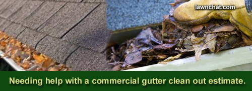 How to estimate gutter cleaning.