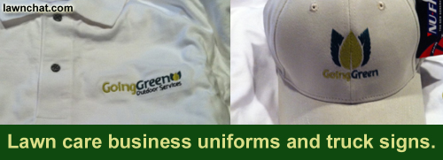 Lawn Care business uniforms.