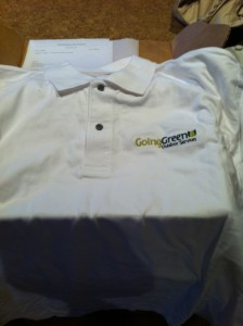 Lawn care uniform short sleeve shirt.