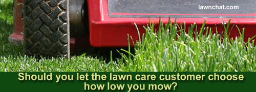 Lawn mowing height.