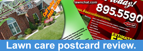 Lawn care postcard review.
