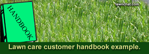 Lawn care customer handbook.