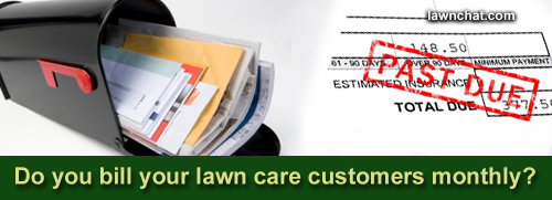 Lawn care customer invoice.