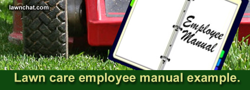 Lawn Care Employee Manual