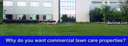 Why do you want commercial lawn care properties?