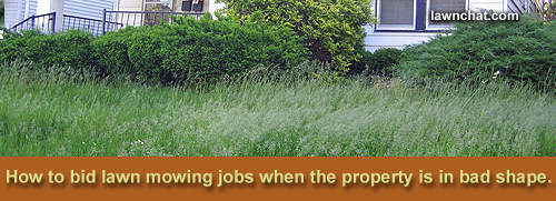 How to bid lawns.