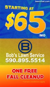 Lawn care business card.