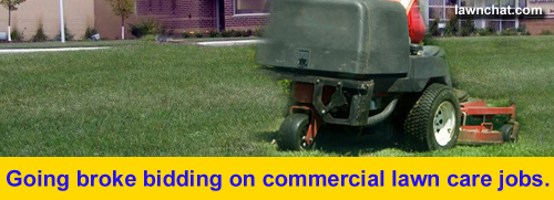 Commercial lawn care bidding.
