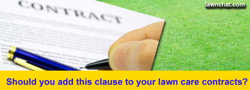 Lawn care contract.