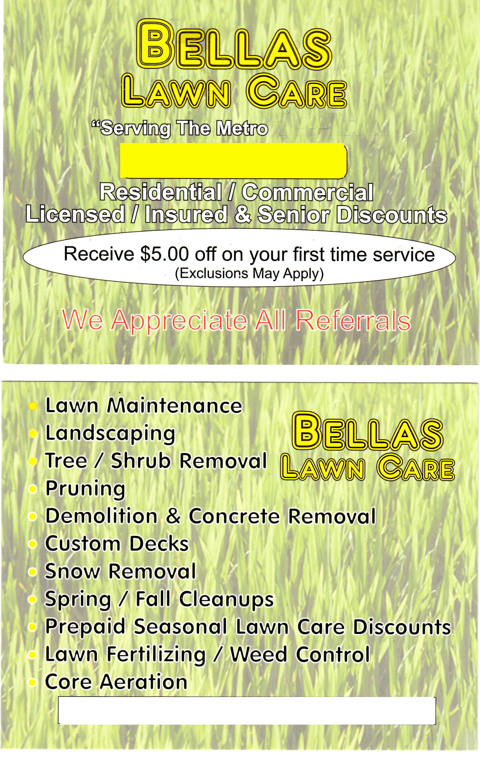 what am i doing wrong my lawn care marketing lawn care lawn care postcard
