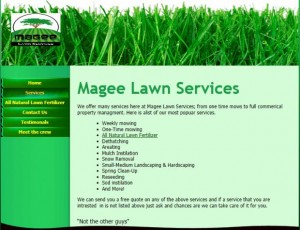 Lawn Care Business Website