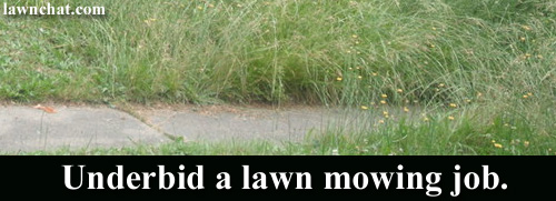 Underbid A Lawn Mowing Job