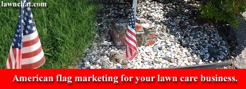 Lawn Care Marketing With Flag