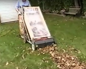 Homemade leaf collector
